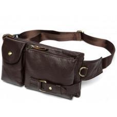 Коричнева сумка на пояс шкіряна Bexhill Bx9080B