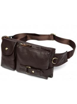 Коричневая сумка на пояс кожаная Bexhill Bx9080B
