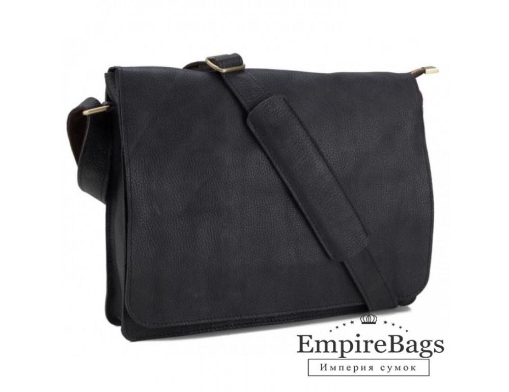 Мужская кожаная сумка через плечо TIDING BAG BXA603A чёрная - Фото № 1