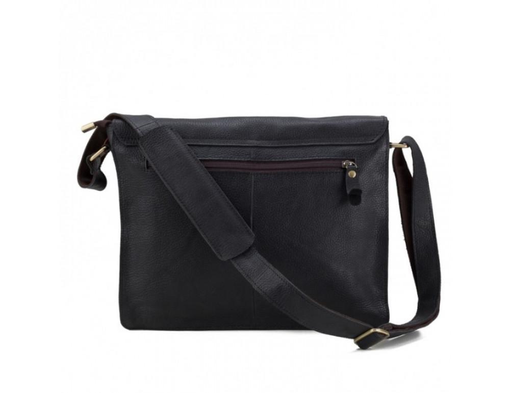 Мужская кожаная сумка через плечо TIDING BAG BXA603A чёрная - Фото № 2