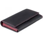 Женский кожаный кошелек VISCONTI CD21 BLK/RED черный с красным - Фото № 100