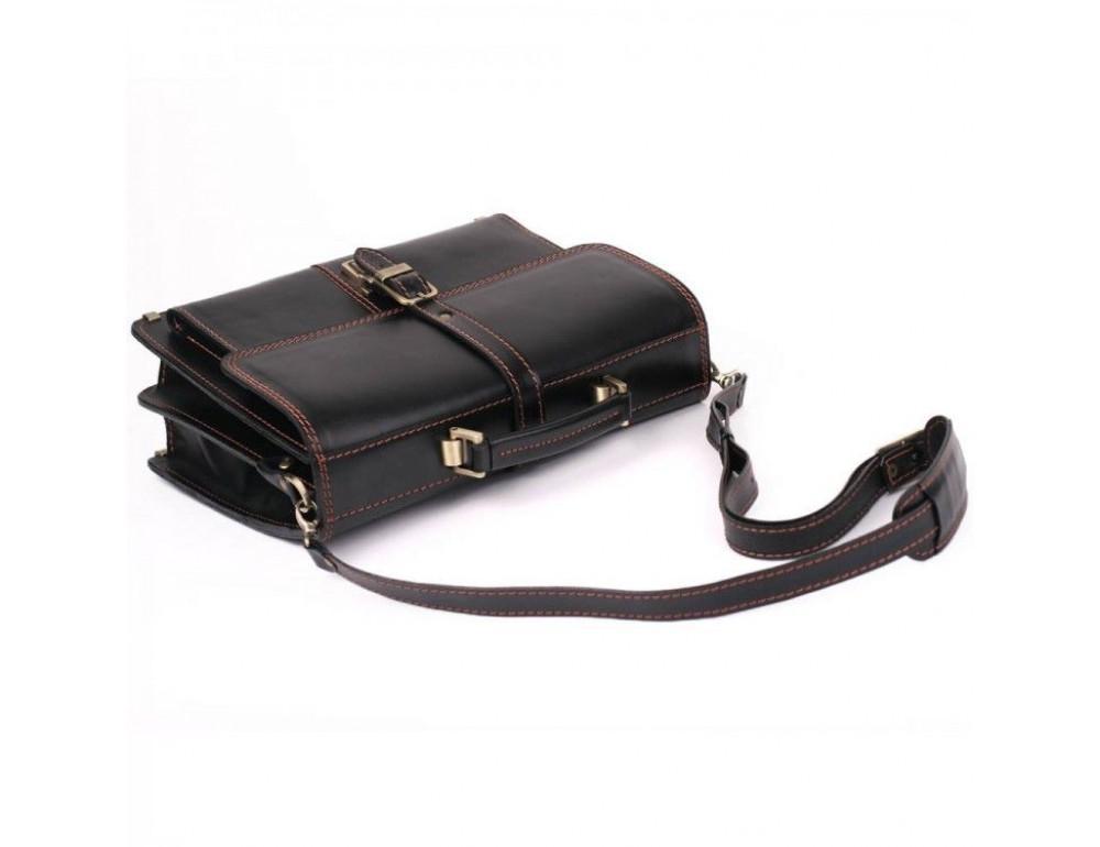 Черный портфель мужской из натуральной кожи Manufatto РП-10 AC - Фото № 3