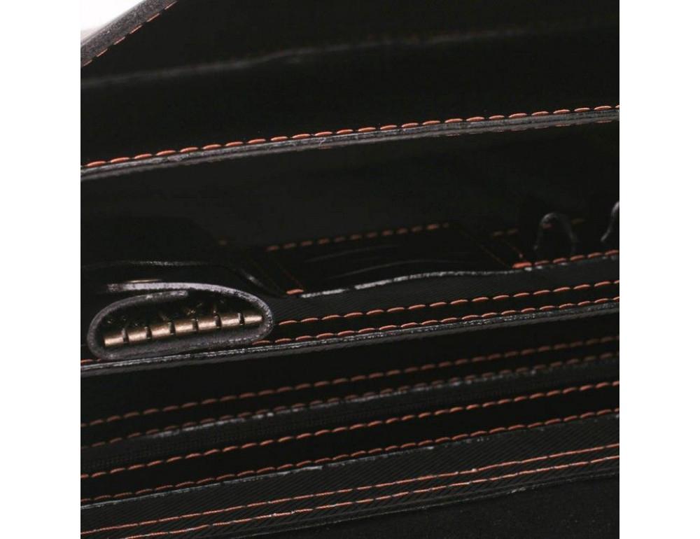 Черный портфель мужской из натуральной кожи Manufatto РП-10 AC - Фото № 4
