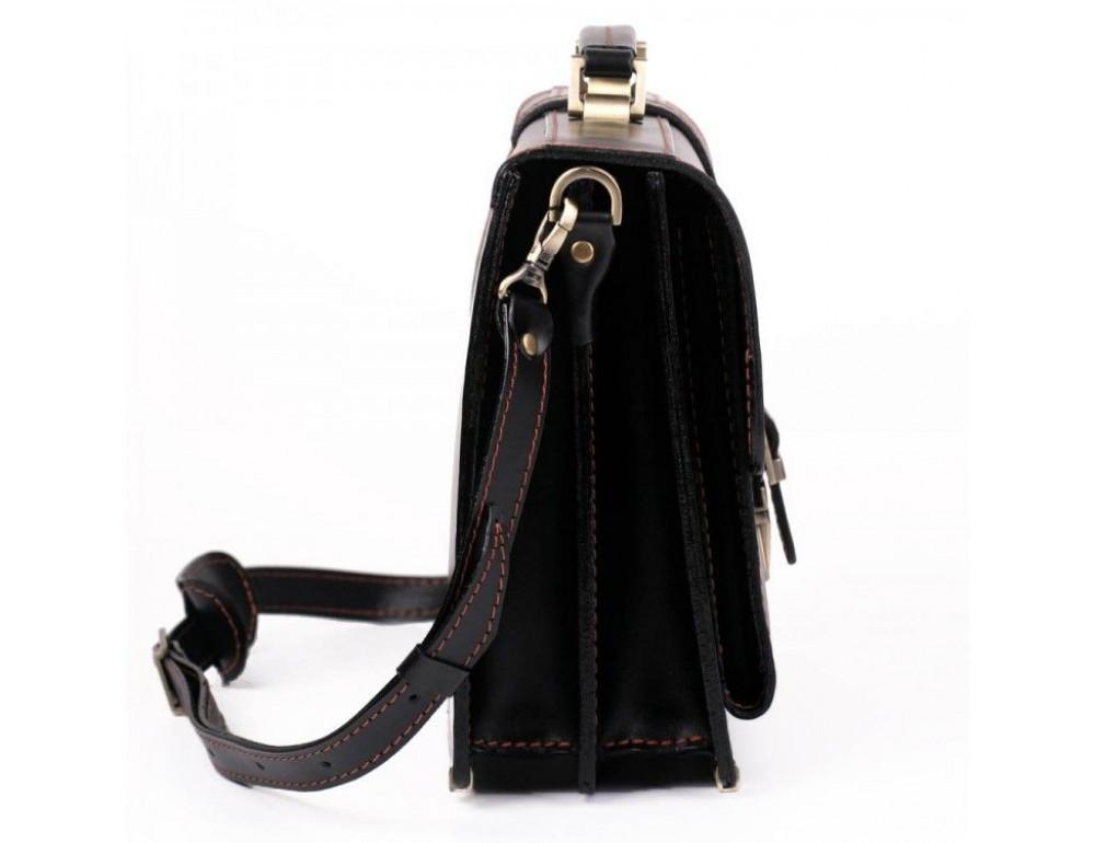 Черный портфель мужской из натуральной кожи Manufatto РП-10 AC - Фото № 5
