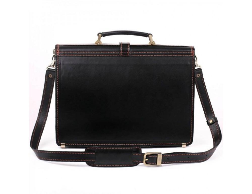 Черный портфель мужской из натуральной кожи Manufatto РП-10 AC - Фото № 6