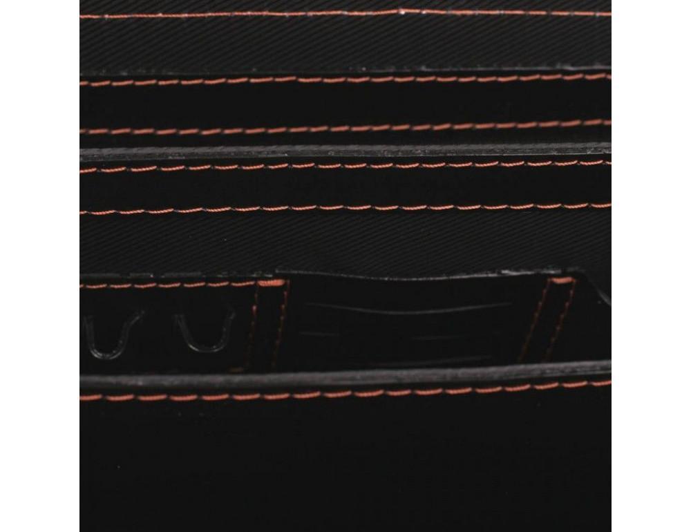 Черный портфель мужской из натуральной кожи Manufatto РП-10 AC - Фото № 7