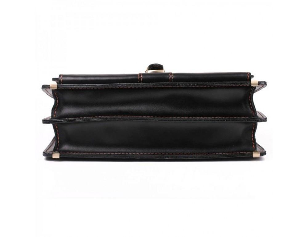 Черный портфель мужской из натуральной кожи Manufatto РП-10 AC - Фото № 8