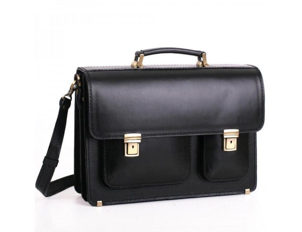 Черный портфель мужской Manufatto СПС-2 - Фото № 1