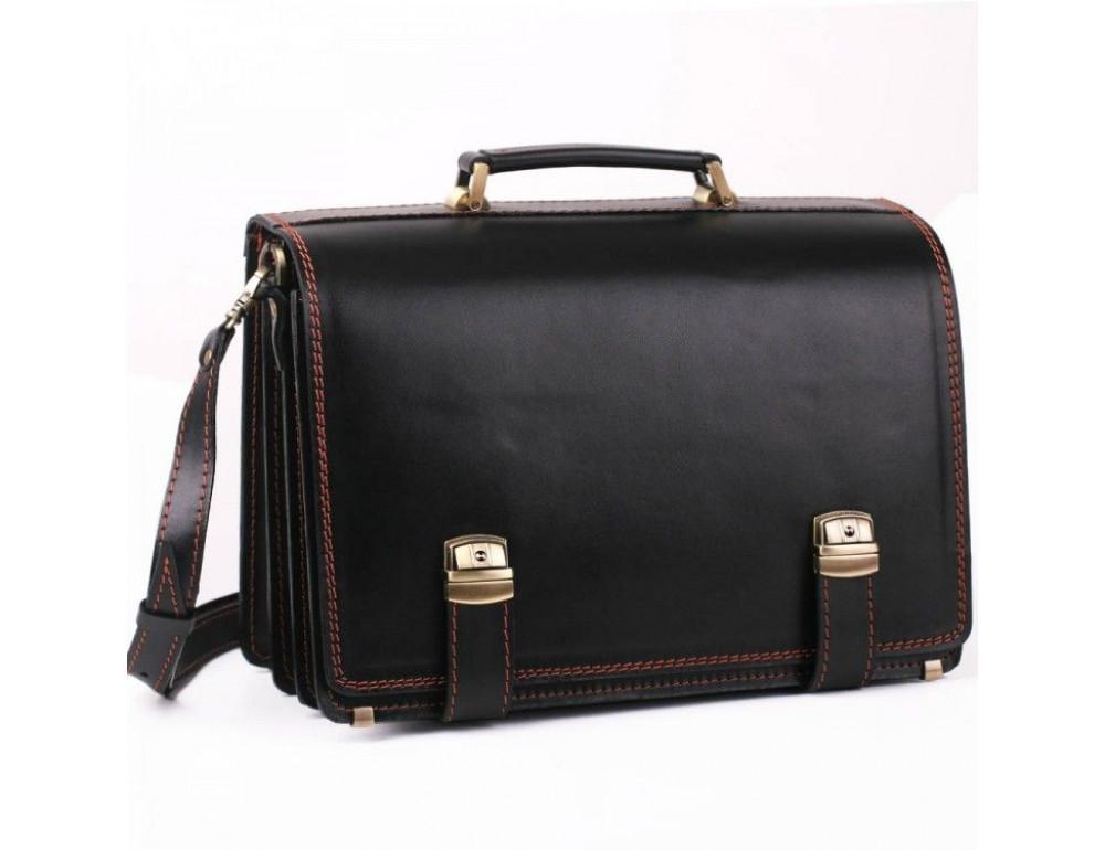 Черный портфель мужской на три отделения Manufatto ТМ-1 AC - Фото № 1