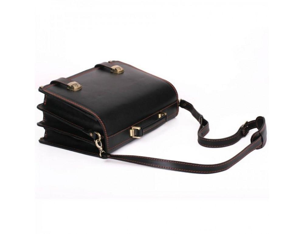 Черный портфель мужской на три отделения Manufatto ТМ-1 AC - Фото № 2