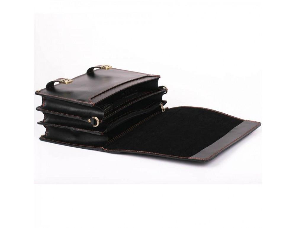 Черный портфель мужской на три отделения Manufatto ТМ-1 AC - Фото № 3