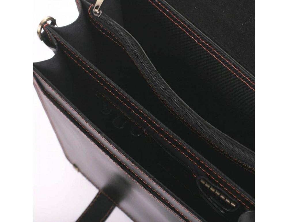 Черный портфель мужской на три отделения Manufatto ТМ-1 AC - Фото № 4