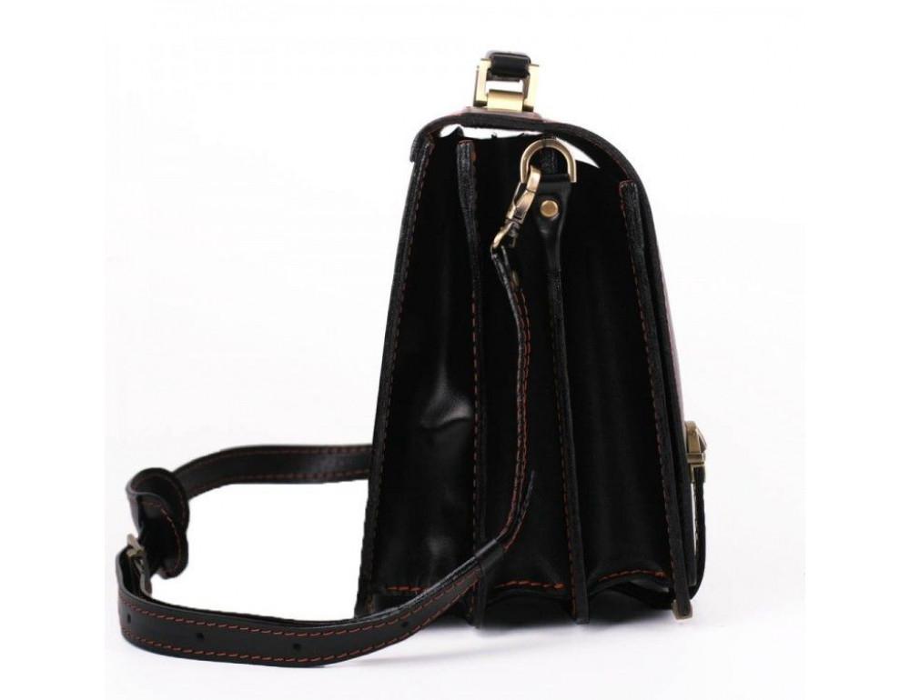 Черный портфель мужской на три отделения Manufatto ТМ-1 AC - Фото № 5