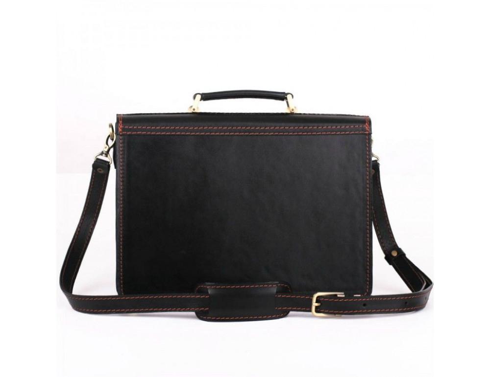 Черный портфель мужской на три отделения Manufatto ТМ-1 AC - Фото № 6