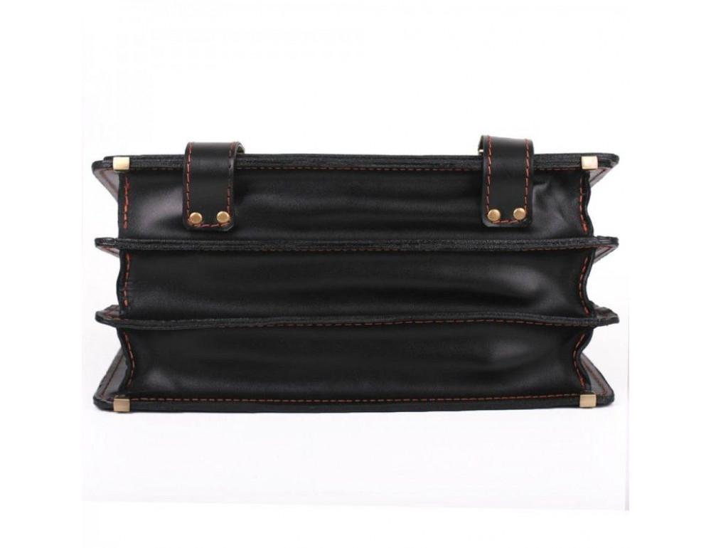 Черный портфель мужской на три отделения Manufatto ТМ-1 AC - Фото № 7