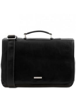 Чёрная большая сумка-портфель MANTOVA Tuscany Leather TL142068 Black