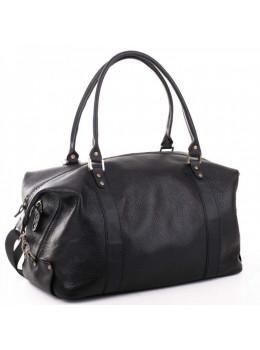 Чёрная дорожная сумка из натуральной кожи Manufatto 00042 №1
