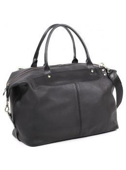 Чёрная дорожная сумка из натуральной кожи Manufatto 10089 №3