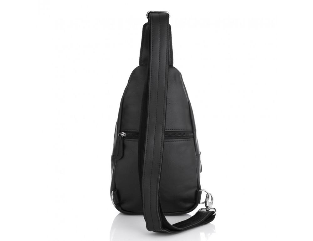 Чёрная кожаная сумка через плечо Newery N116GA - Фото № 2