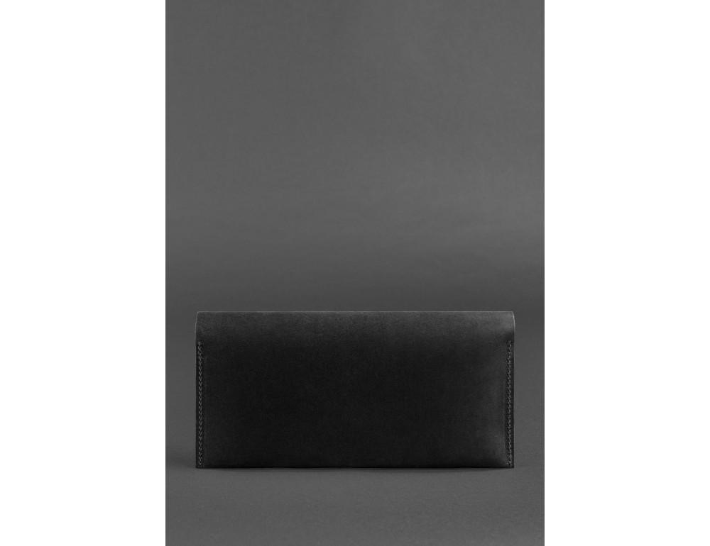 Чёрный кошелёк под документы из винтажной кожи Blanknote BN-TK-2-G-KR - Фото № 3