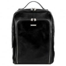 Чёрный кожаный рюкзак среднего размера BANGKOK Tuscany Leather TL141793 Black
