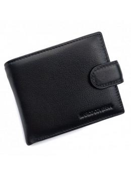 Чёрный мужской кожаный портмоне Marco Coverna MC2003-1