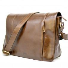 Светло-коричневая сумка на плечо мужская из натуральной кожи TARWA CQ-7338-3md