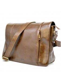 Світло-коричнева сумка на плече чоловіча з натуральної шкіри TARWA CQ-7338-3md