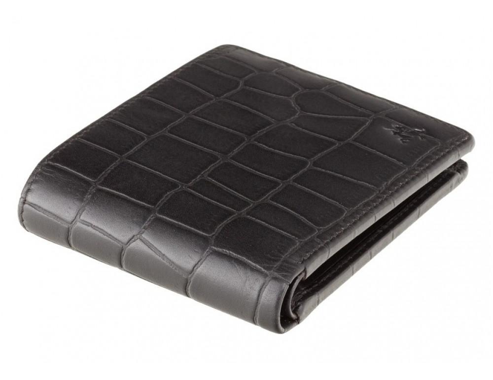 Чёрный мужской кожаный портмоне Visconti CR92 BLK Gator c RFID (Black) - Фото № 3
