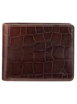 Коричневый мужской кожаный портмоне Visconti CR92 BRN Gator c RFID