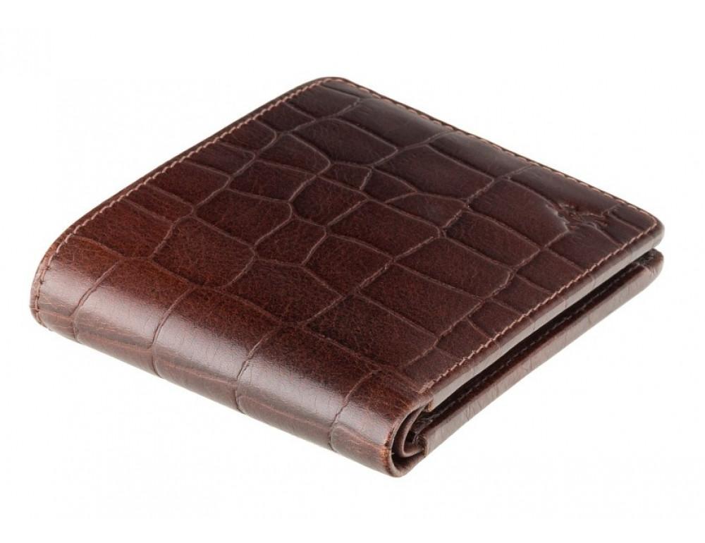 Коричневый мужской кожаный портмоне Visconti CR92 BRN Gator c RFID  - Фото № 3