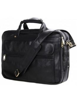 Місткий шкіряний портфель JASPER & MAINE 7146A чорний