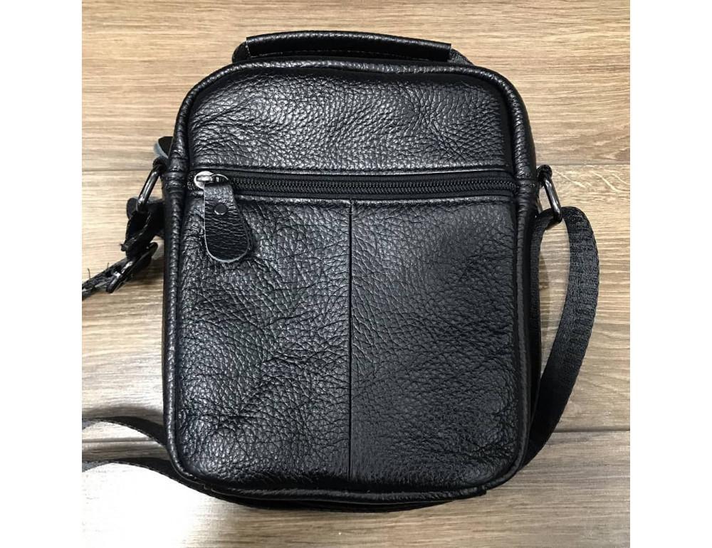 Кожаный мессенджер TIDING BAG A25-1188A чёрный - Фото № 2