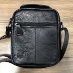 Кожаный мессенджер TIDING BAG A25-1188A чёрный - Фото № 101