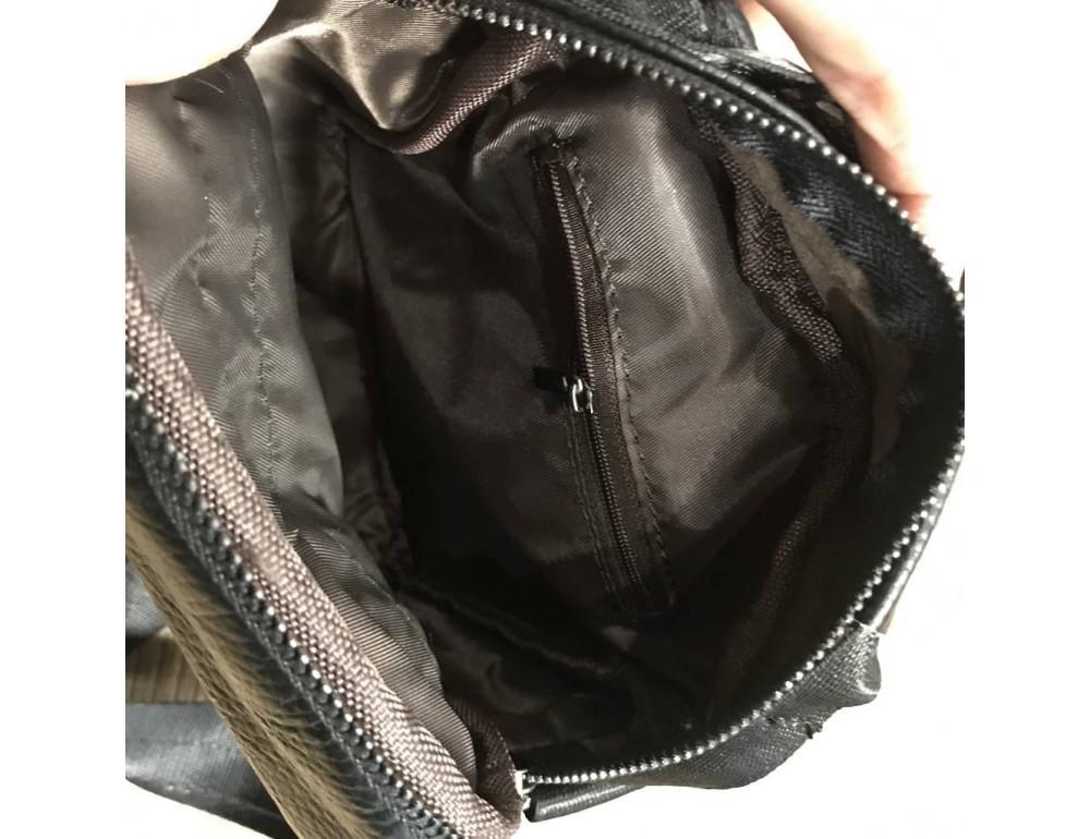 Кожаный мессенджер TIDING BAG A25-1188A чёрный - Фото № 5