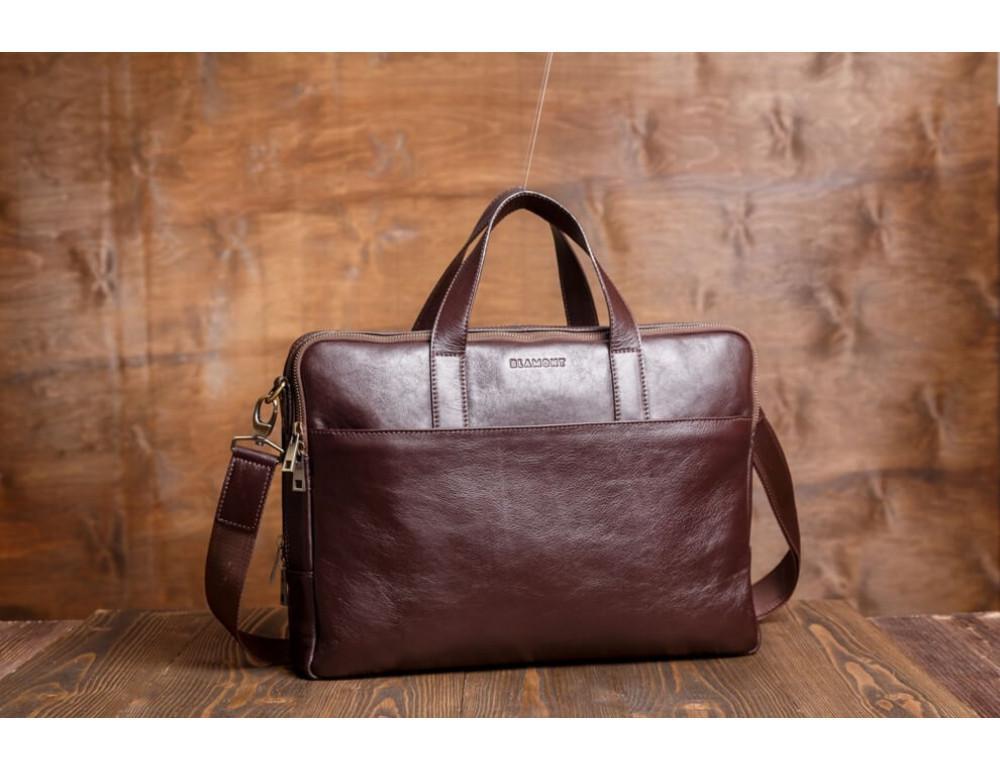 Мужская кожаная сумка Blamont Bn070C - Фото № 3