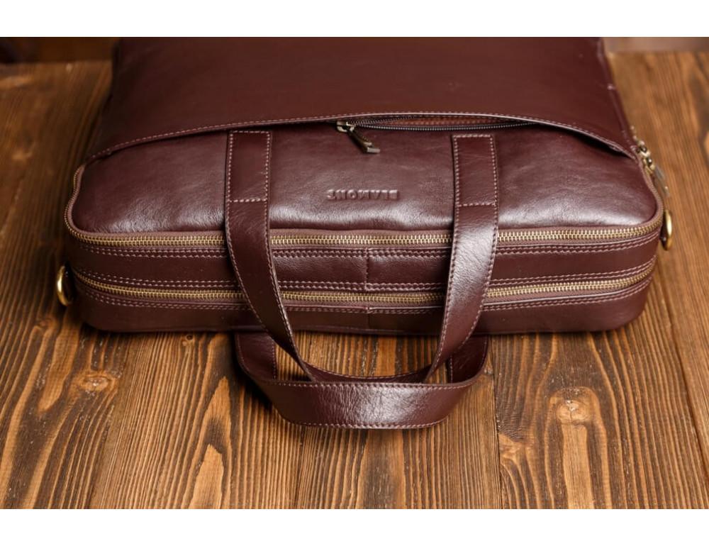 Мужская кожаная сумка Blamont Bn070C - Фото № 4