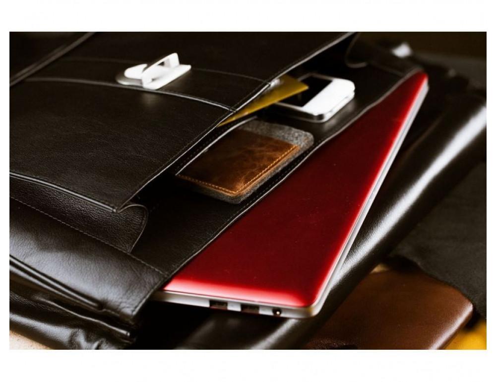 Вместительный кожаный портфель Blamont Bn017A - Фото № 9