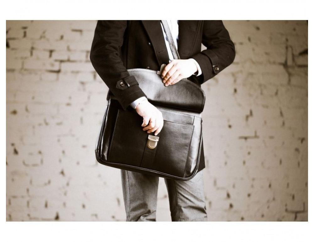 Вместительный кожаный портфель Blamont Bn017A - Фото № 4