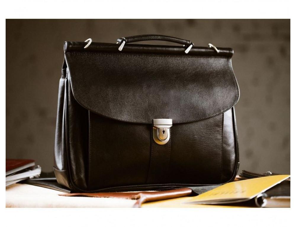 Вместительный кожаный портфель Blamont Bn017A - Фото № 3