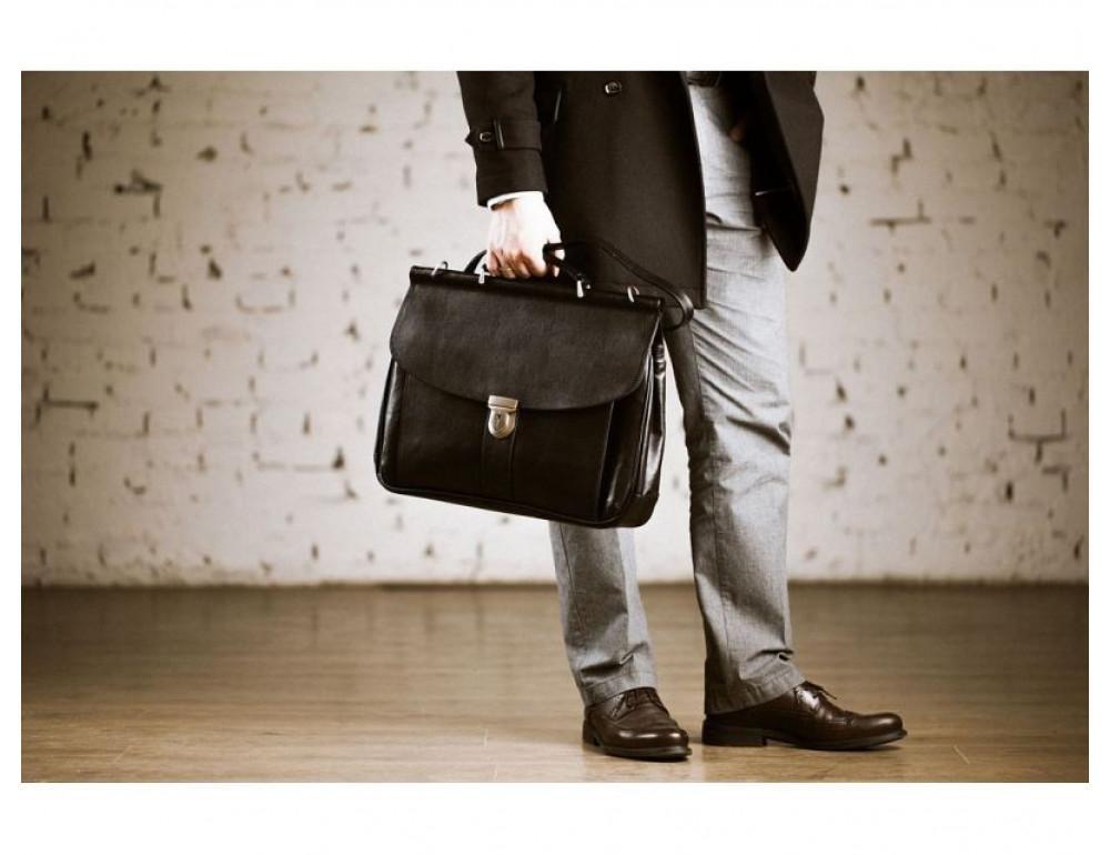 Вместительный кожаный портфель Blamont Bn017A - Фото № 2