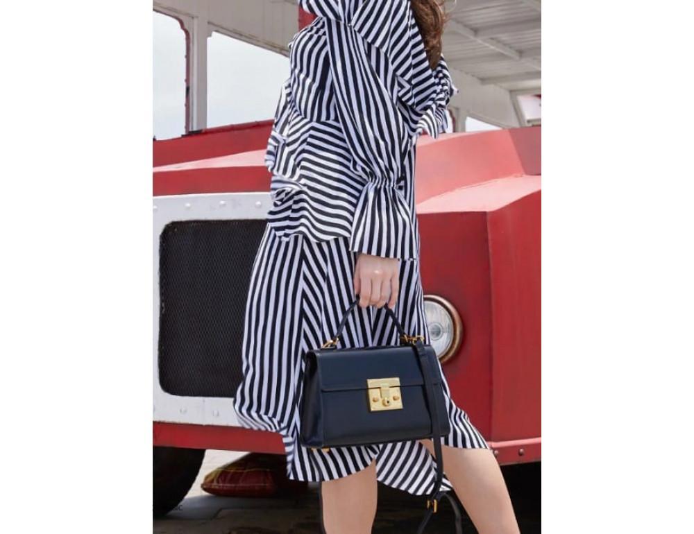 Кожаная сумка Grays Gr8400A Чёрная - Фото № 2