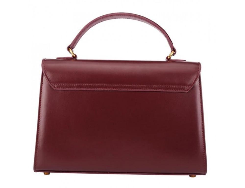 Кожаная сумка Grays Gr8400R красная - Фото № 2