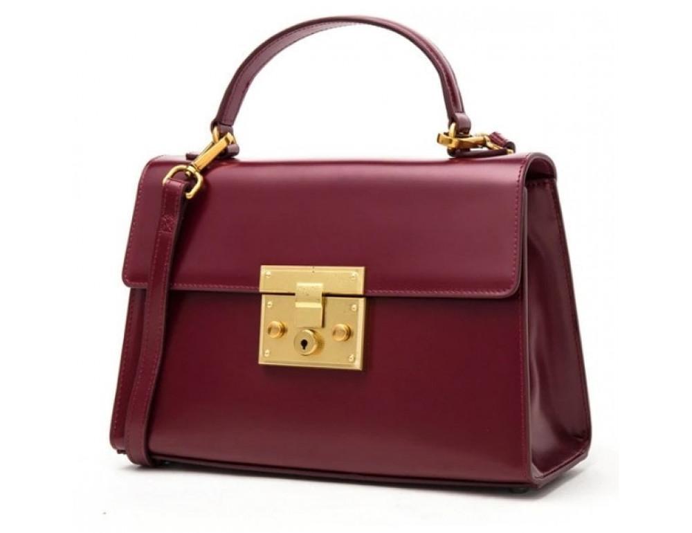 Кожаная сумка Grays Gr8400R красная - Фото № 1