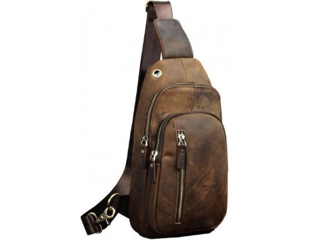 Чоловіча сумка-рюкзак Tiding Bag M37-XB9012C Коричнева