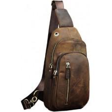 Мужская сумка-рюкзак Tiding Bag M37-XB9012C Коричневая