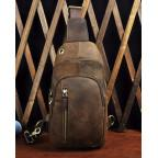 Мужская сумка-рюкзак Tiding Bag M37-XB9012C Коричневая - Фото № 103
