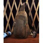 Мужская сумка-рюкзак Tiding Bag M37-XB9012C Коричневая - Фото № 105