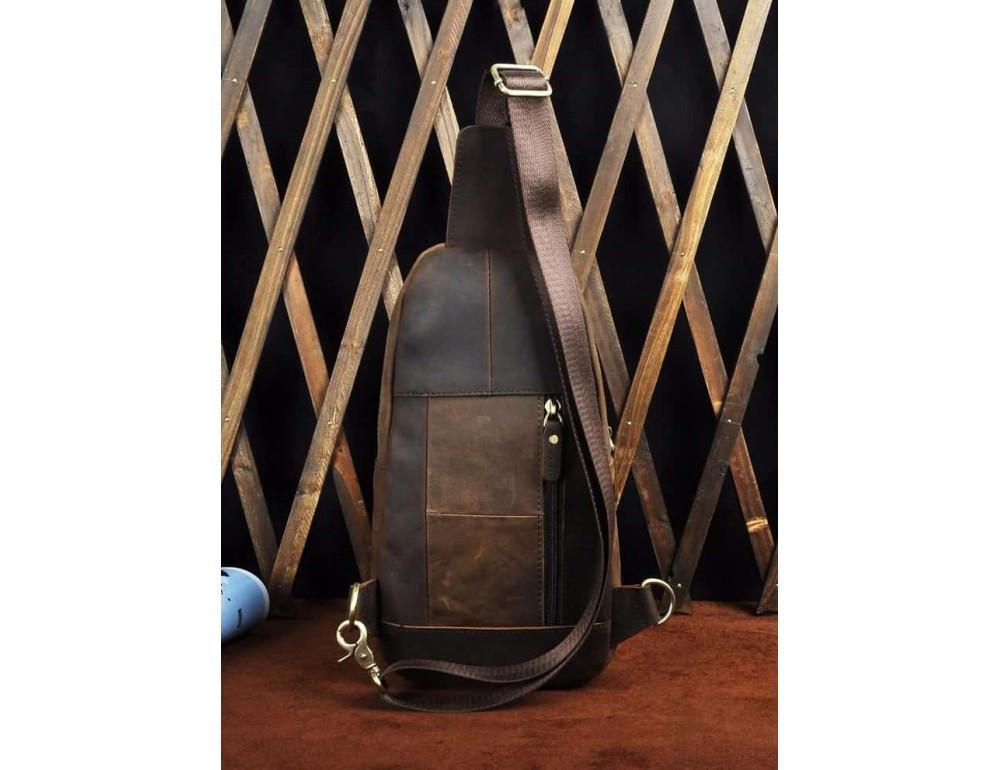 Мужская сумка-рюкзак Tiding Bag M37-XB9012C Коричневая - Фото № 7