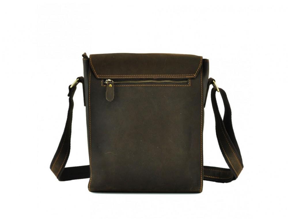 Мужская кожаная сумка на плечо TIDING BAG 7055DB коричневая - Фото № 2